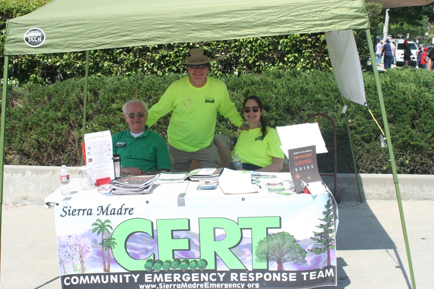 CERT Volunteers at the 2013 Sierra Madre Firefighter's Association booth